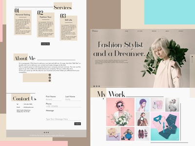 Dana Fashion UI Website Design