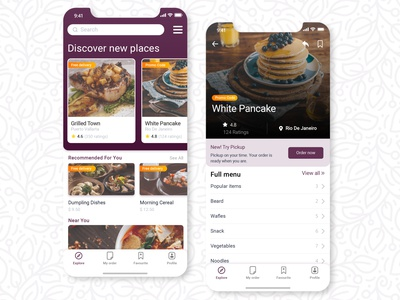 Foodies Ios App UI