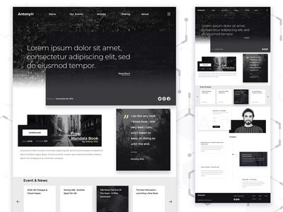 AntonyHills Web Designs UI