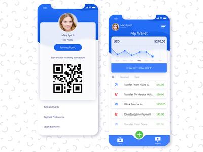 E-Wallet Ios App UI Design