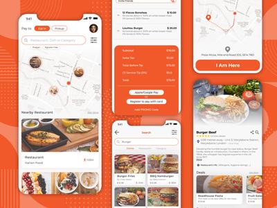 PayToEat UI/UX Ios App