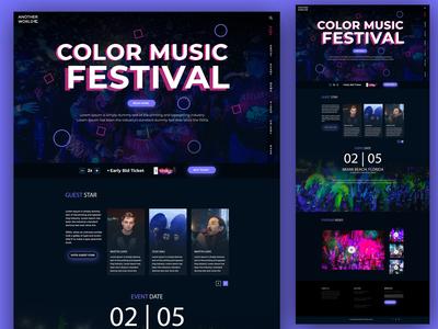 Color Music Festival Landing Page