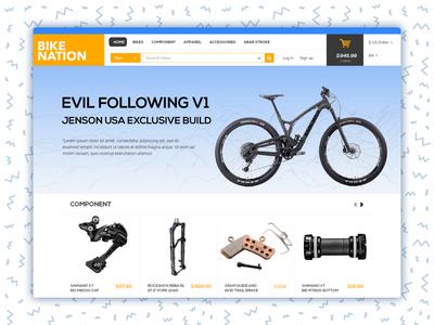 Bike Nation Shop Landing Page