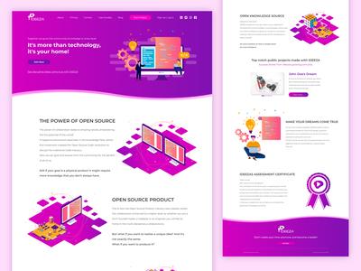IDEEZA Website Design UI (Wordkflow Prototype)