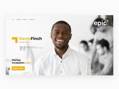 Epic Website Home Page Design