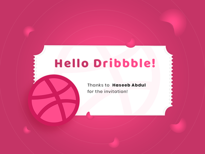 Hello Dribbble! first shot debute hello dribble