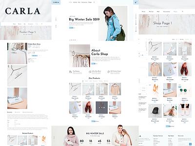 Carla - Clothing and Fashion E-commerce Template for Themeforest theme forest ecommerce fashion responsive design creative