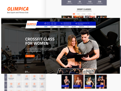 Olimpica - Gym, Crossfit and Fitness PSD Template theme forest crossfit fitness club gym bootstrap responsive design creative
