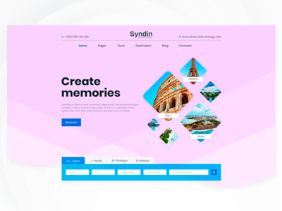 Preview of our ongoing project for travel agency