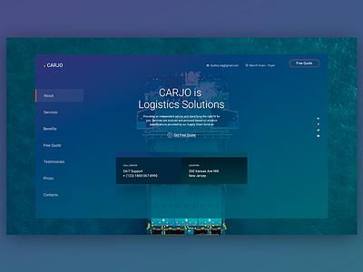 Carjo - Logistics, Transportation, Cargo PSD Template landing page transportation logistics cargo creative responsive design
