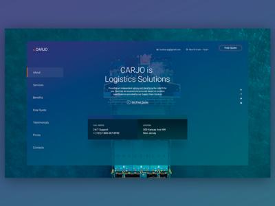 Carjo - Logistics, Transportation, Cargo PSD Template