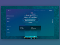 Carjo - Logistics, Transportation, Cargo PSD Template