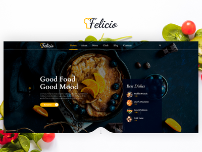 Felicio Project - Food & Restaurant Theme food delivery menu chef pizza bistro cooking vegan dinner lunch restaurant cafe food