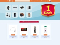 One rupee Deal Page
