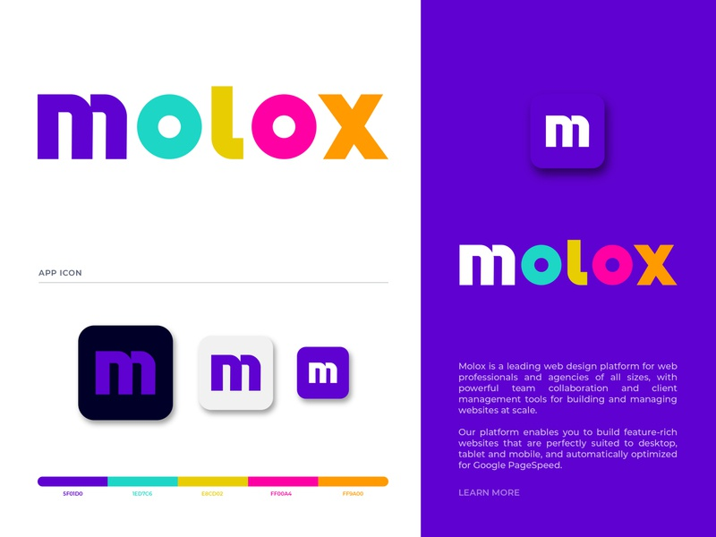 molox logo design brand identity business logo design branding logo designer modern data client management modern typography m letter logo symbol logo mark app icon custom type typo typographic typogaphy m letter m