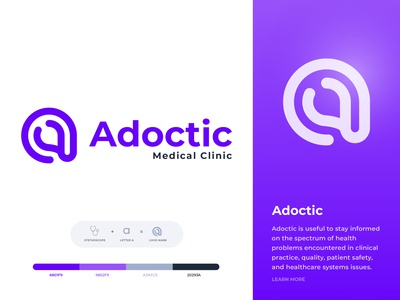 Adoctic Logo Design || logo design for Medical Clinic