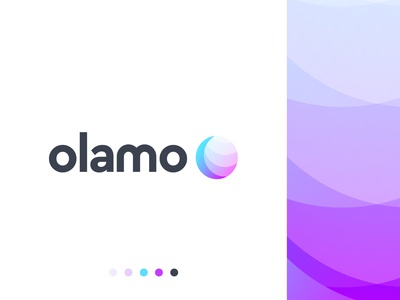 olamo logo design global typography logo lettering abstract company business gradient modern logo designer logo design brand identity logo mark branding technology letter logo mark letter o o letter