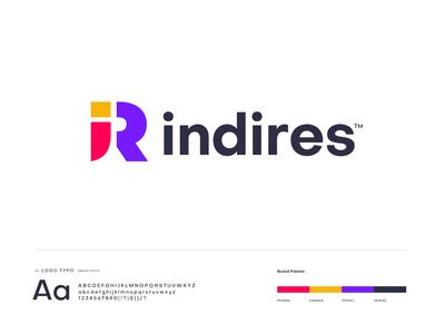 indires logo design business brand identity modern app branding logo mark logo designer minimal simple creative letter logos i letter logo design logo letter logo