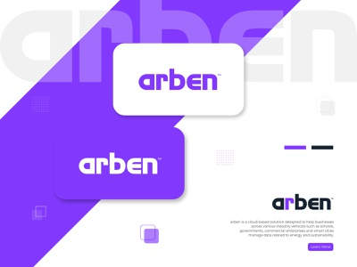 arben modern typography simple logo typography art typography design typeface company business modern logo mark logo design brand identity technology branding lettering custom lettering custom font custom type typo typography logo typography