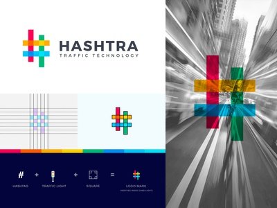 Hashstra Traffic Technology - logo design