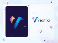 v logo mark for vextra