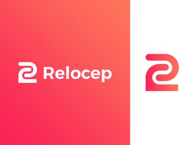 Relocep logo design | R letter logo mark