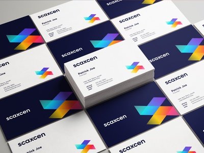 Scaxcen Business Cards corporate business card minimal business card modern business card brand identity logo mark business card template print branding design technology stationery business card design website logo design technology logo app logo logotype symbol mark logo branding business card brand identity designer