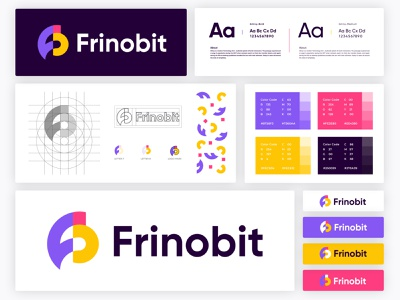 Frinobit - Brand Identity digital agency business company corpoate logo abstract b letter logo f letter logo logo design concept logo mark app icon app technology logo designers logo designer typeface logomark company style guide branding project brand identity designer brand guide identity