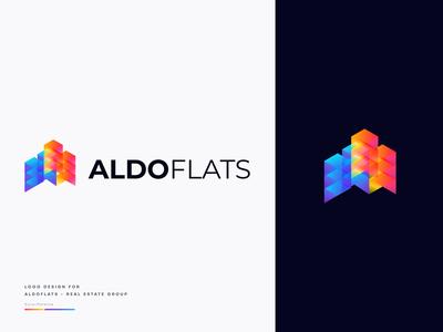 Aldoflats - Modern Real Esate Logo Design