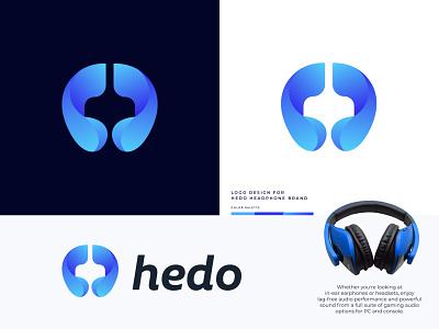 Hedo - Headphone Brand Logo Design business company branding identity earphone logo mark branding technology logo designer logodesign logo brand e commerce website logo headphone logo symbol app icon app vector illustration gadget