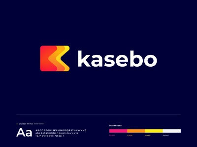 kasebo logo design identity k logo k letter logo letter logo logo design logo designer brand identity branding software company business digital agency technology abstract gradient abstract modern vector illustration app icon app