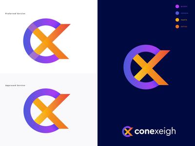 conexeigh - logo design