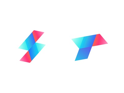 S + lightning bolt + T logo concept