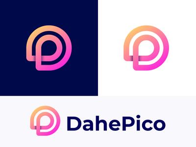 D & P letter logo concept for DahePico