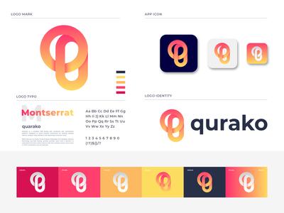 quarako branding app logo design logo designer brand identity logo mark business company platform visitors branding lettermark lettering q letter q logo q