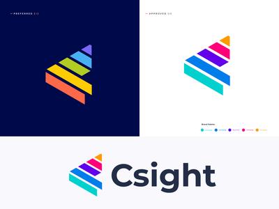 Csight Logo Design | C Letter Logo