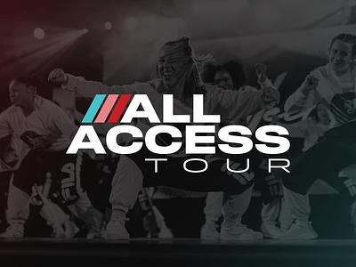 All Access Tour—Dance Revolution tour dance logo
