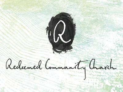 Redeemed Logo federico font organic painting identity letter mark church r design branding logo