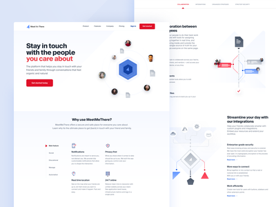 Homepage Iteration webdesign web corporate minimal blue red icons icon typography ux illustration ui colors clean branding website design
