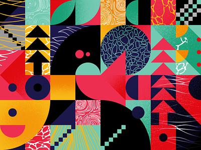Pattern 001 grain texture illustration pattern