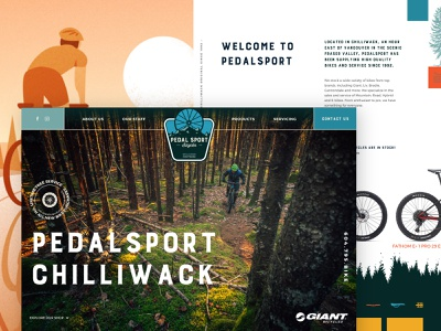 PedalSport Chilliwack Redesign branding agency landing page layout design video texture bike shop illustration typography web design layout website