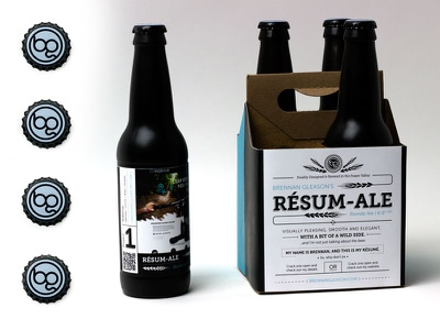 Gleason's Resume-Ale - Self Promotion Piece promotion self promo packaging beer resume typography