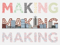 Making Lettering - Domain7 Rebrand Concepts