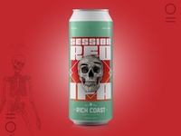 RC Cans Art Direction #4 - Red IPA