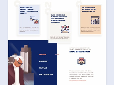 Marketing Site Features Section clean modern illustration marketing website typography layout
