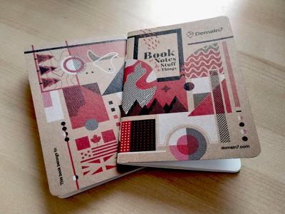 Domain7 Scout Books halftone print notebook typography iillustration