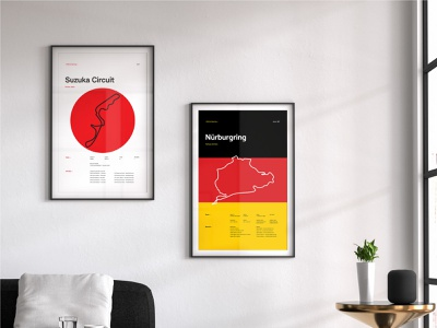 Circuit Posters prints posters racing cars automotive layout typography