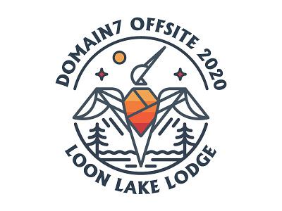 Domain7 Offsite Shirt Design retreat retro minimal illustration design typography
