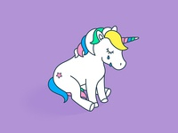 Sticker «lonely unicorn»