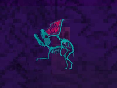 Digital Dominates Evolution animal poster digitalart illustrator art digital creative illustration design